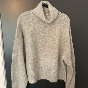 H&M Turtleneck Sweater, Light Grey, size M